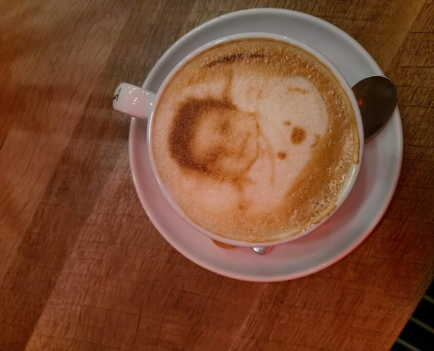 your baby will also be on the coffee